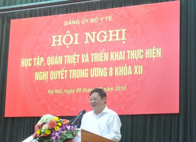 Thứ trưởng thường trực Bộ Y tế Nguyễn Viết Tiến phát biểu khai mạc Hội nghị
