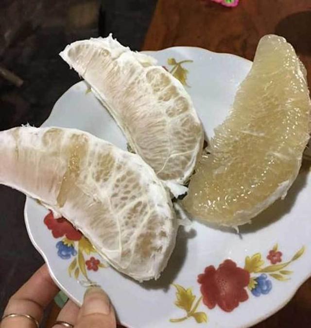 Bưởi Trung Quốc có 2 loại tép màu trắng...
