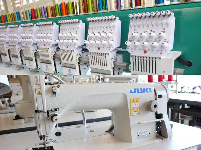 Hệ thống máy móc ngành may hiện đại được Huỳnh Gia Fashion đầu tư