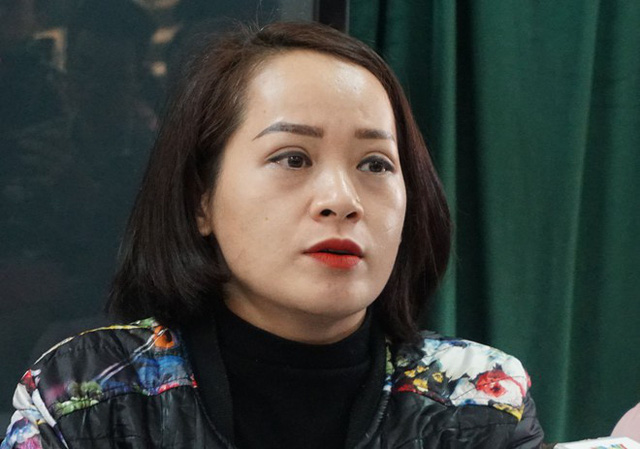 Chị Ngô Thanh Tâm khẳng định cô giáo có bắt học sinh tát con mình. Ảnh: Q.Q.