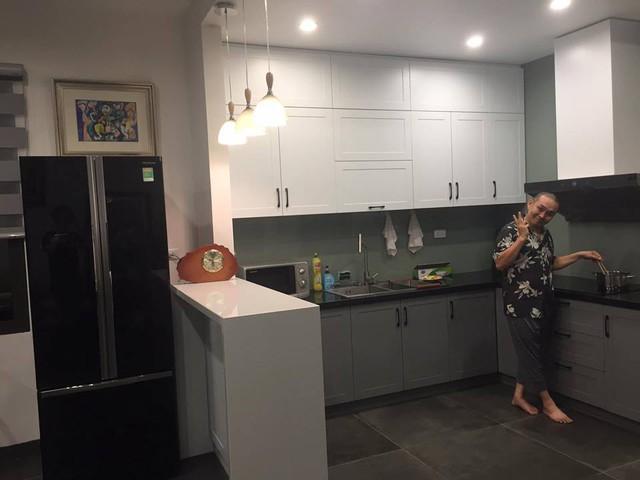 Một góc căn bếp trong ngôi nhà ở Hà Nội