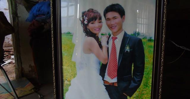 Ảnh cưới vợ chồng chị Thanh.