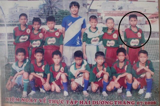 Cầu thủ Đức Huy năm 11 tuổi. Ảnh: Gia đình cung cấp