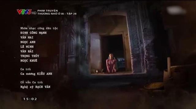 Phần giới thiệu phim Thương nhớ ở ai có ghi tên Ca nương Kiều Anh.