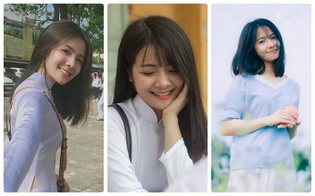 """""""Thiên thần áo dài trắng"""" Dương Thu Giang (ảnh NVCC)"""