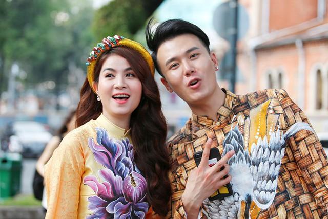 Kha Ly và bạn diễn Tôn Vĩ Luân. Ảnh: NVCC.