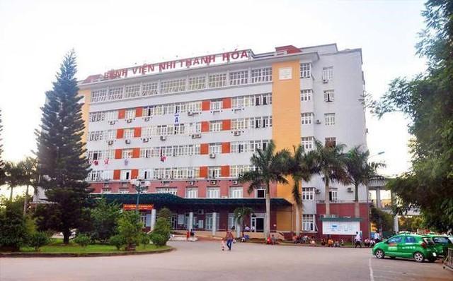 Bệnh viện Nhi Thanh Hoá - nơi bé Thái cấp cứu.