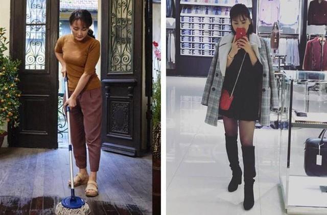 Bảo Thanh đăng ảnh theo trào lưu khác biệt lúc ở nhà và khi lên đồ đi chơi