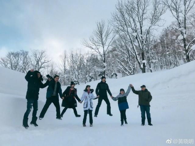 Đại gia đình Hiểu Minh - Angelababy bên nhau hạnh phúc.