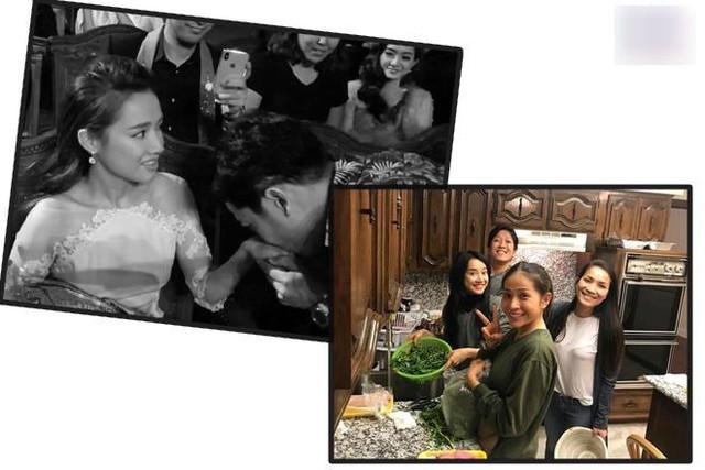 Ánh mắt hạnh phúc trong bức ảnh Nhã Phương chụp cùng Trường Giang tại Mỹ đối lập với giây phút gượng gạo nhận chiếc nhẫn cầu hôn.