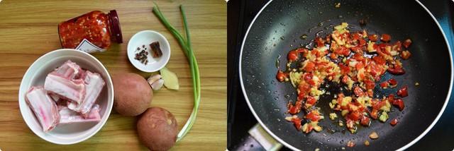 Sườn hấp khoai tây món ngon dễ làm cuối năm
