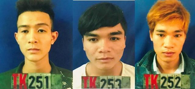 Kiều, Bắc và Nguyễn (từ trái qua) khi bị bắt giam. Ảnh: P.H.