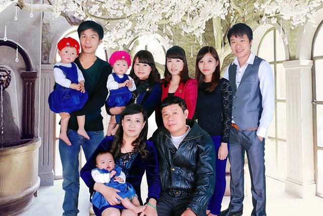 Đại gia đình chị Ngà.