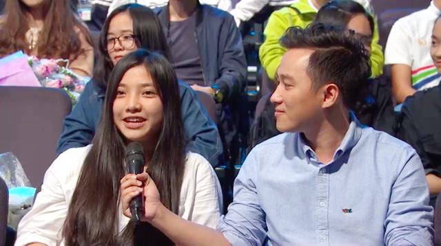 Thuý Ngân gửi lời cổ vũ Trí Tín trong chương trình