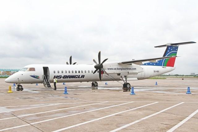 Máy bay Bombardier Dash Q400 của hãng US-Bangla. Ảnh minh họa: Daily Star.  Theo Tri Thức Trực Tuyến