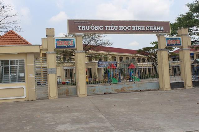 Trường Tiểu học Bình Chánh, nơi xảy ra vụ việc