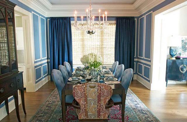 Một điều bạn có thể tìn tưởng rằng, dù với bất kì không gian nào, ở sắc độ nào thì những chiếc rèm cửa màu xanh lam luôn khiến căn phòng đó trở nên đầy ấn tượng.