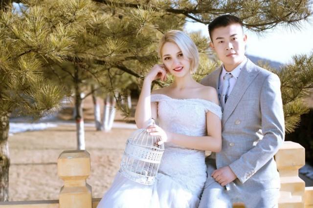 Cô dâu Inesa người Ukraine và chú rể He Pingwei người Trung Quốc