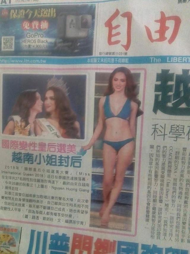 Thông tin và hình ảnh của Hương Giang đăng tải trên tạp chí Đài Loan.