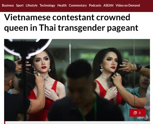 Trang Channel News Asia dẫn tin