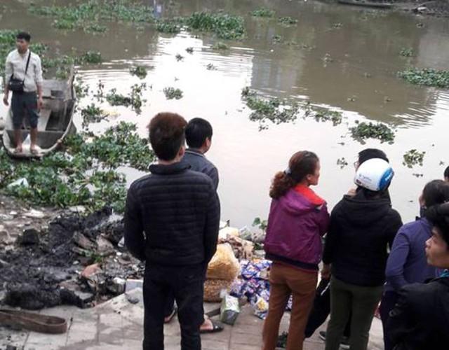 Đoạn sông Sặt, nơi xảy ra sự việc hi hữu. Ảnh: K.Trung