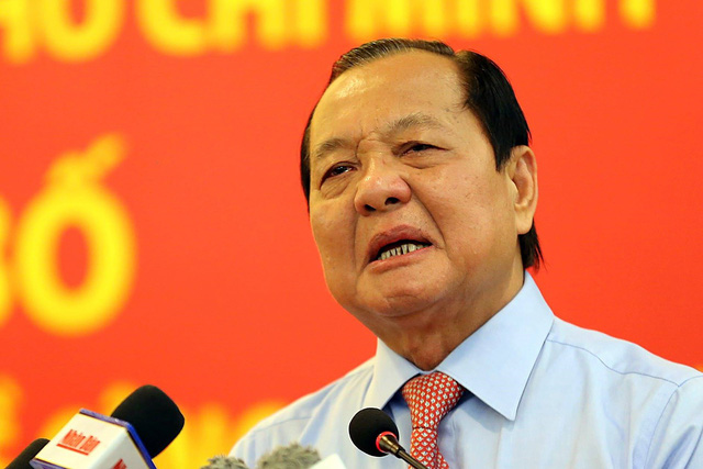 Ông Lê Thanh Hải, Nguyên Ủy viên Bộ Chính trị, Nguyên Bí thư Thành ủy TP. Hồ Chí Minh.