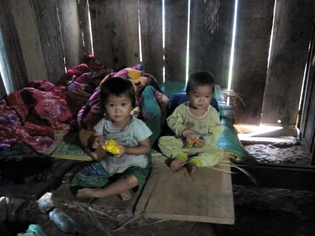 2 con của chị Giàng Thị Thành (ảnh gia đình cung cấp)
