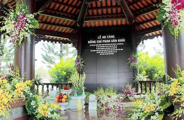 Cố Thủ tướng Phan Văn Khải được an táng bên cạnh mộ vợ