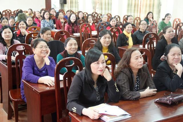 Các cộng tác viên dân số tại lớp tập huấn nghiệp vụ dân số năm 2018.