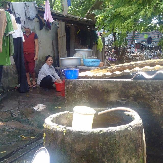 Nhiều khu trọ ở Hà Nội vẫn dùng nước giếng khoan.