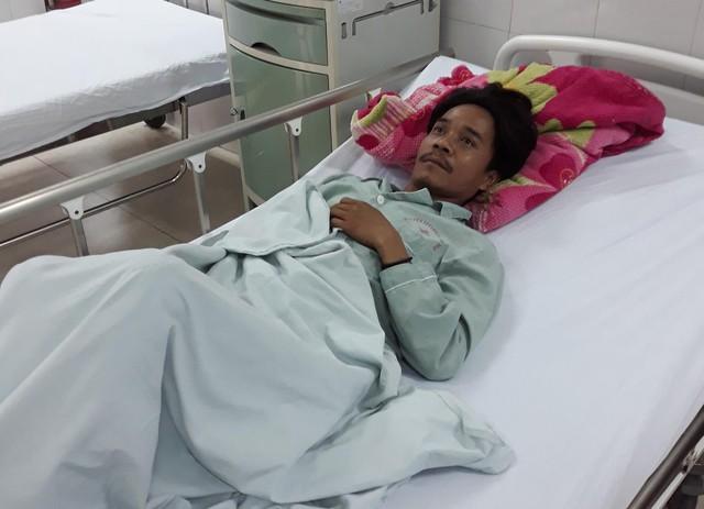 Bệnh nhân Gieo có nguy cơ mù do ngộ độc rượu. Ảnh:VietnamNet