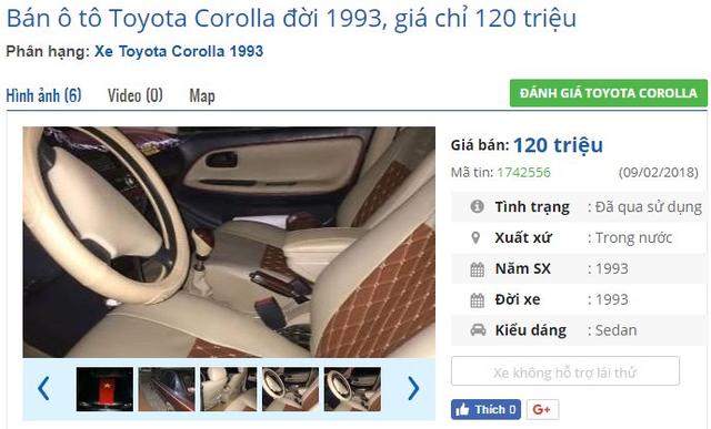 Bất ngờ loạt ô tô rao bán với giá chỉ từ 120 triệu