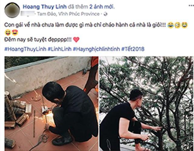 Vào tháng 2/2018 Hoàng Thùy Linh cũng chia sẻ hình ảnh Vĩnh Thụy khi về Vĩnh Phúc ăn Tết  cùng gia đình cô, khiến nhiều fan cho rằng họ đang ngầm thông báo đã ra mắt hai họ đôi bên.