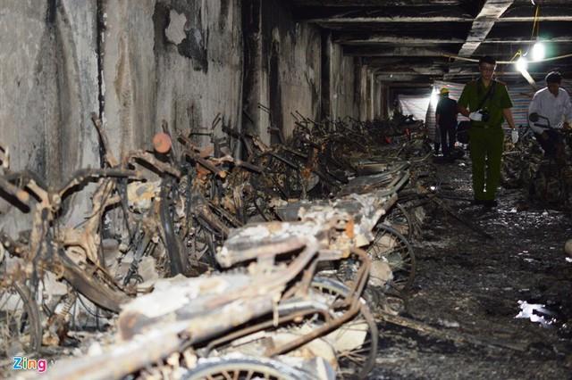 Chung cư có hàng trăm xe máy cháy rụi ở tầng hầm giờ ra sao?