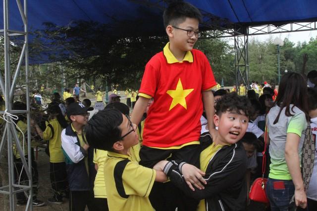 Các phần chơi thu hút được lượng đông học sinh tham gia.