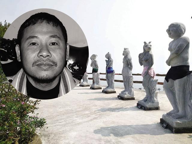 """Bộ điêu khắc linh vật 12 con giáp được """"mặc bikini"""" ở Hòn Dáu, Hải Phòng đang gây xôn xao dư luận.     Ảnh: TL"""