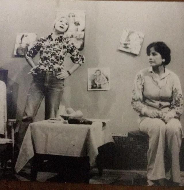 Vóc dáng và phong cách đầy ấn tượng của Minh Vượng trong vở kịch Năm buổi chiều từ năm 1988. Có thể nói, NSƯT Minh Vượng đã có một tuổi thanh xuân thực sự rực rỡ.