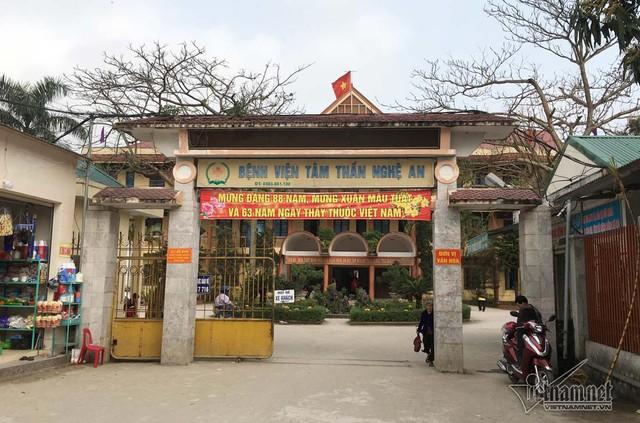 Bệnh viện Tâm thần Nghệ An nơi nam sinh viên đang điều trị