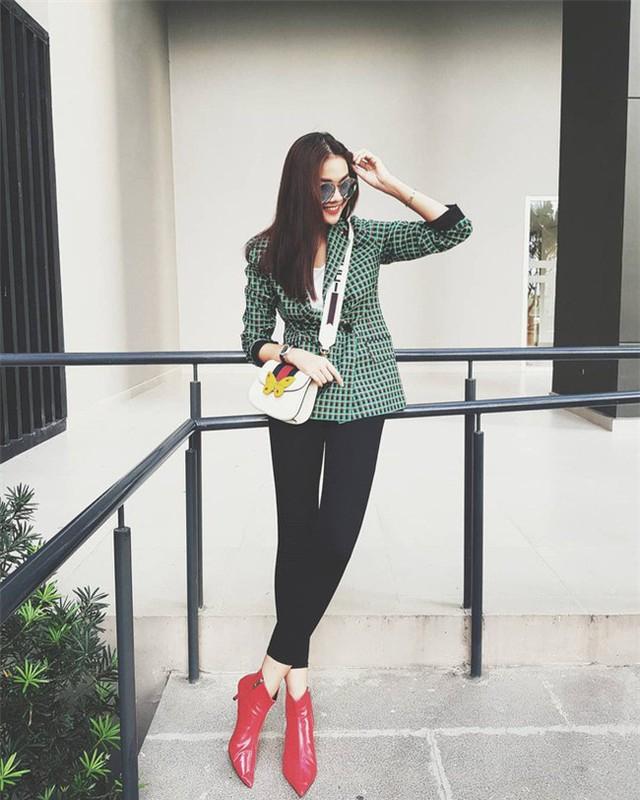 Tìm kiếm gợi ý diện đồ công sở từ chính phong cách của các người đẹp Việt - Ảnh 9.