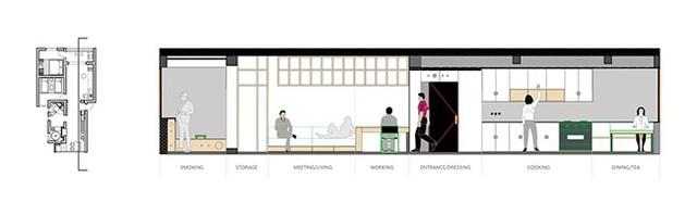 Một trong các bản vẽ thiết kế mới của căn hộ.