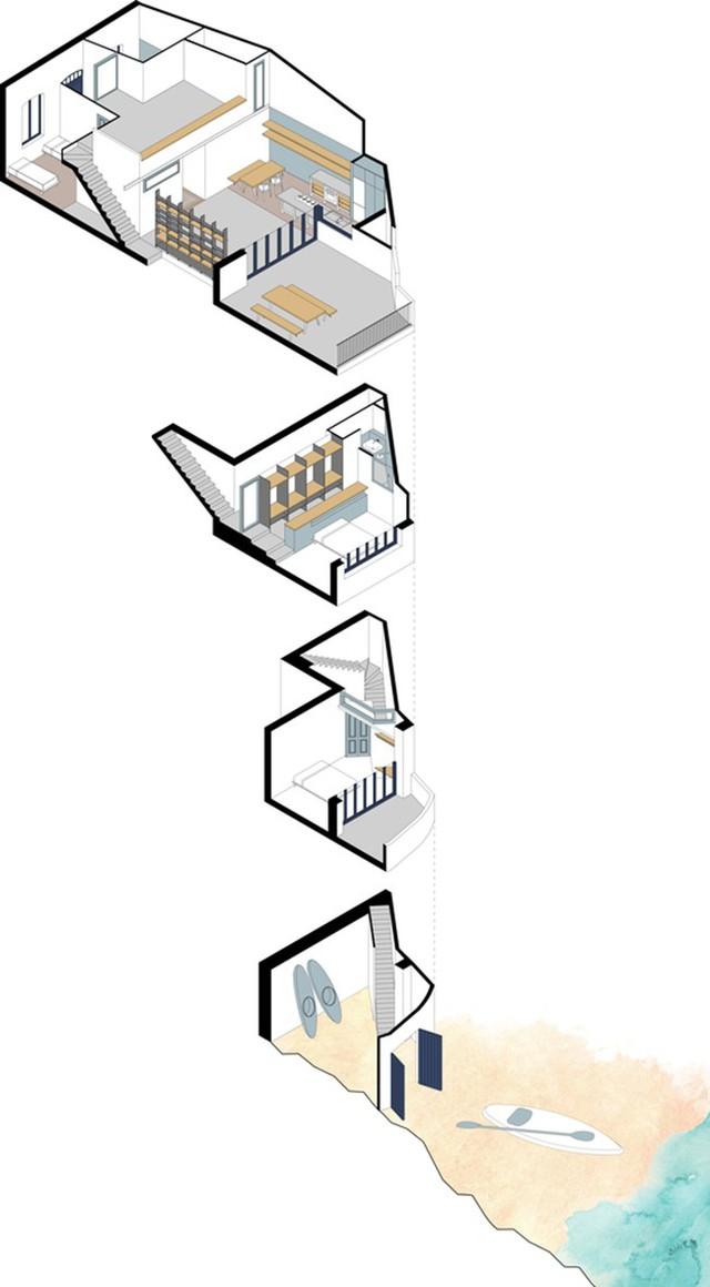 Bản vẽ chi tiết các tầng của căn nhà.