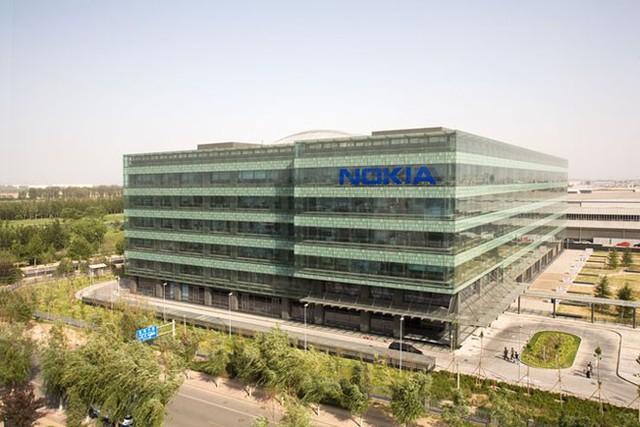 Toàn cảnh bên ngoài trụ sở Nokia