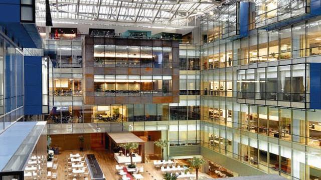 Không gian choáng ngợp bên trong tòa nhà