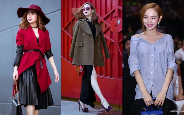 Từ đầu năm 2015, nhờ có stylist riêng, Minh Hằng đổi gu thời trang đáng kể. So với 11 năm trước, cô dần ổn định hơn về phong cách.