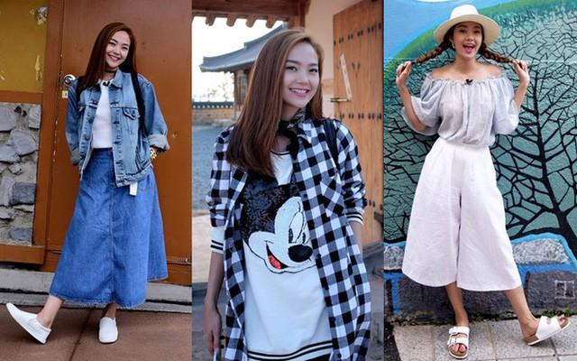 Nữ diễn viên ngày càng trẻ hóa bằng phong cách thời trang nhí nhảnh. Những xu hướng mới được người đẹp cập nhật và áp dụng với các bộ đồ thường ngày. Hiện Minh Hằng là một trong số mỹ nhân Việt có phong cách thời trang đường phố nổi bật.