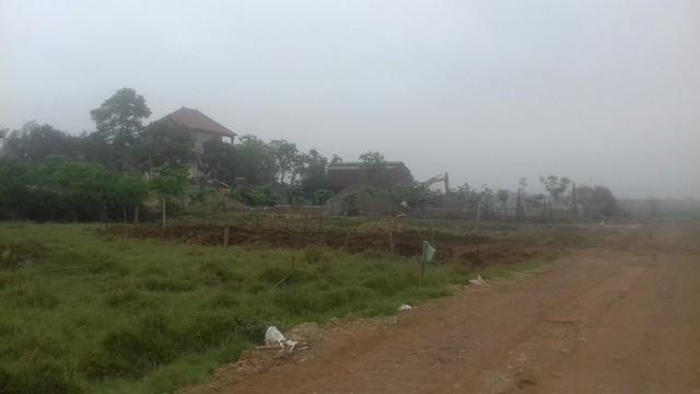 Biệt thự khủng hàng trăm m2 xây dựng trái phép trên đất nông nghiệp tại xã Xuân Thu, Sóc Sơn, Hà Nội. Ảnh: Xuân Thắng