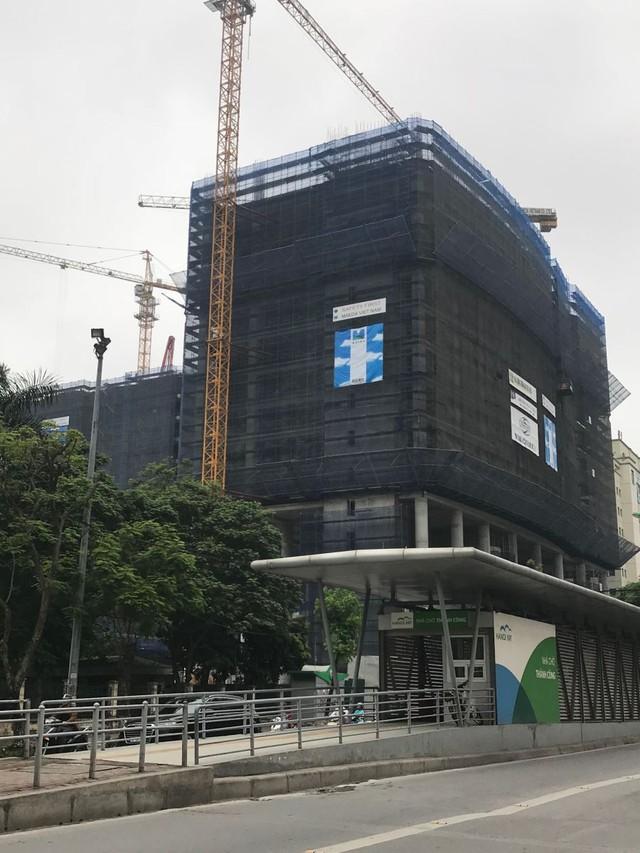 Dự án Oriental Plaza vẫn đang trong quá trình thi công