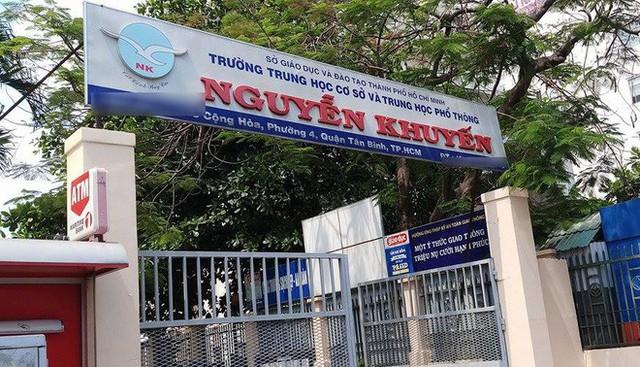 Trường Nguyễn Khuyến, nơi xảy ra sự việc.