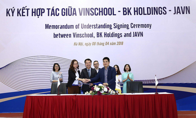 Lễ ký kết hợp tác giữa Vinschool – BK Holdings – JA Việt Nam