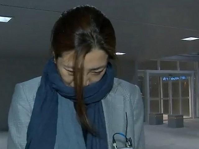 Bà Cho Hyun-min tại sân bay Incheon sau chuyến du lịch Đà Nẵng